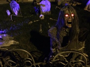 Creepy Halloween decorations cover the yard and home of Tammy Adair, St. George, Utah, Oct. 27, 2015   Photo by Hollie Reina, St. George News