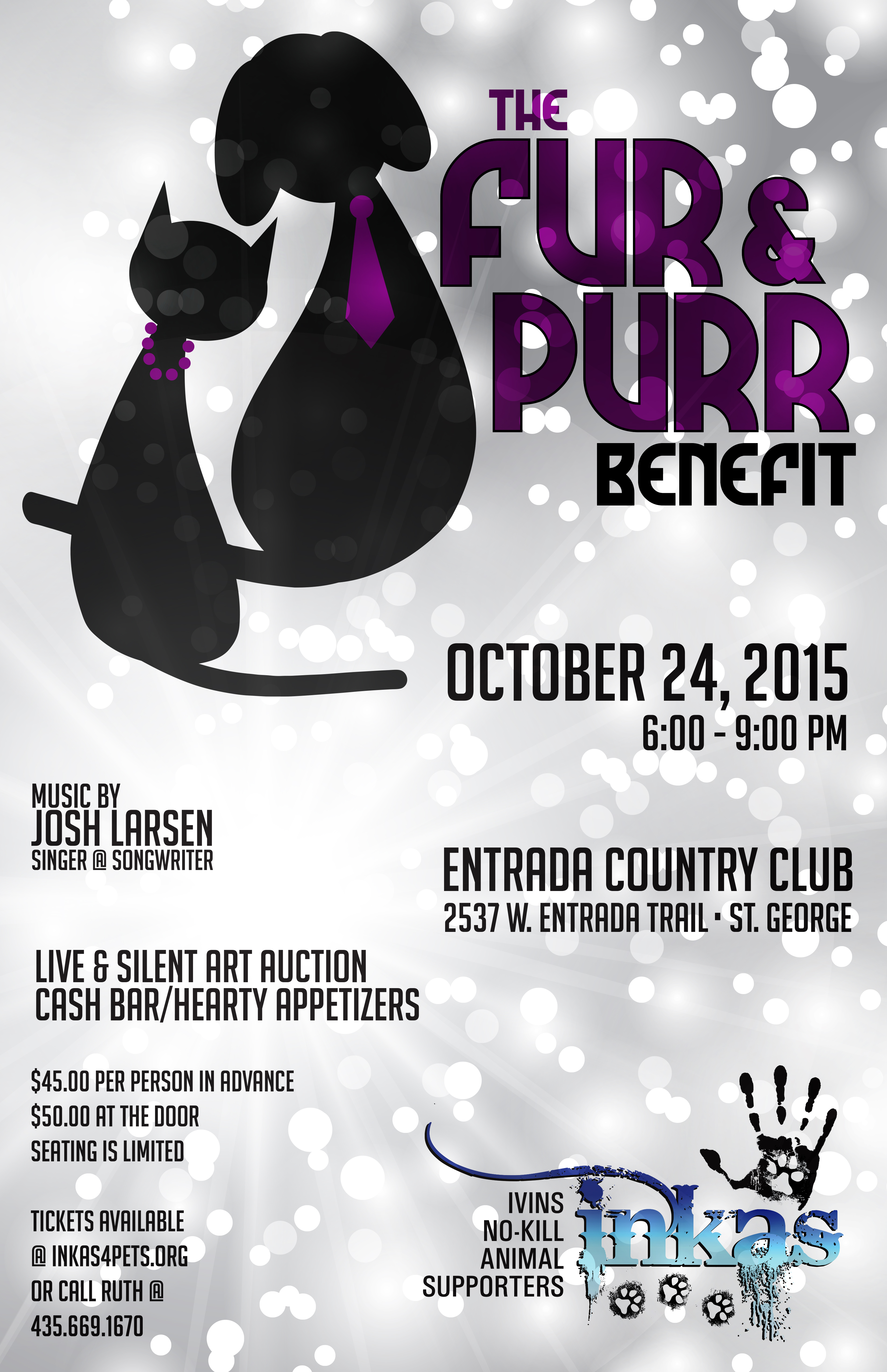 """""""Fur and Purr Benefit"""" flyer courtesy of INKAS, St. George News"""
