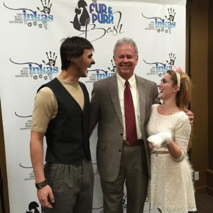 Ivins Mayor Chris Hart with Tuacahn actors at the 2014 Fur and Purr Benefit, location and date unspecified | Photo courtesy of Kim Rubel, St. George News