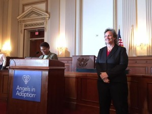 Michelle Guymon honored with the Angels in Adoption award for her work with juveniles, International Trade Center, Washington, D.C., Sept. 6, 2015 | Photo courtesy of Michelle Guymon, St. George News