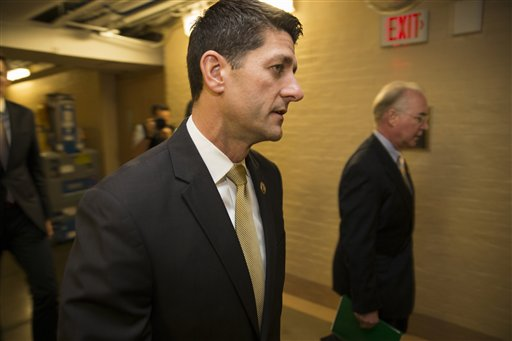 Rep. Paul Ryan, R-Wis. arrives for a House GOP conference meeting on Capitol Hill. Ryan is telling House Republicans he will serve as their speaker only if they embrace him by week's end as their consensus candidate. Washington, D.C., Oct. 21, 2015 | AP Photo by Evan Vucci, St. George News