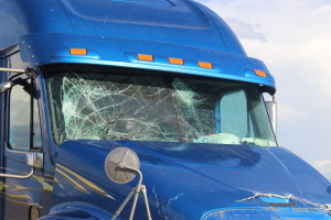 A semitruck is heavily damaged in an accident Sunday afternoon on I-15, Leeds, Utah, Oct. 18, 2015| Photo by Cody Blowers, St. George News.
