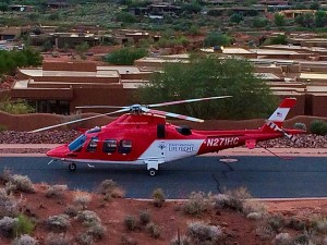 A 19-year-old man was transported to the hospital by Life Flight in critical condition after falling approximately 50-60 feet from a cliff, St. George, Utah, Oct. 21, 2015 | Photo by Kimberly Scott, St. George News