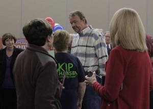 Meet and greet before the debate, Southern Utah University Ballroom, Cedar City, Utah, Oct. 22, 2015 | Photo by Carin Miller, St. George News
