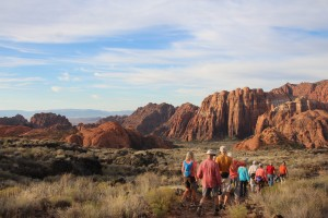 Friends of Snow Canyon hikes during a cleanup at Snow Canyon State Park, Ivins, Utah, September 2015 | Photo courtesy of Snow Canyon State Park, St. George News