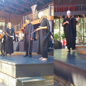Students and educators on stage during the Shakespeare Competition, Cedar City, Utah, October 2015 | Photo courtesy of the Utah Shakespeare Festival, St. George News