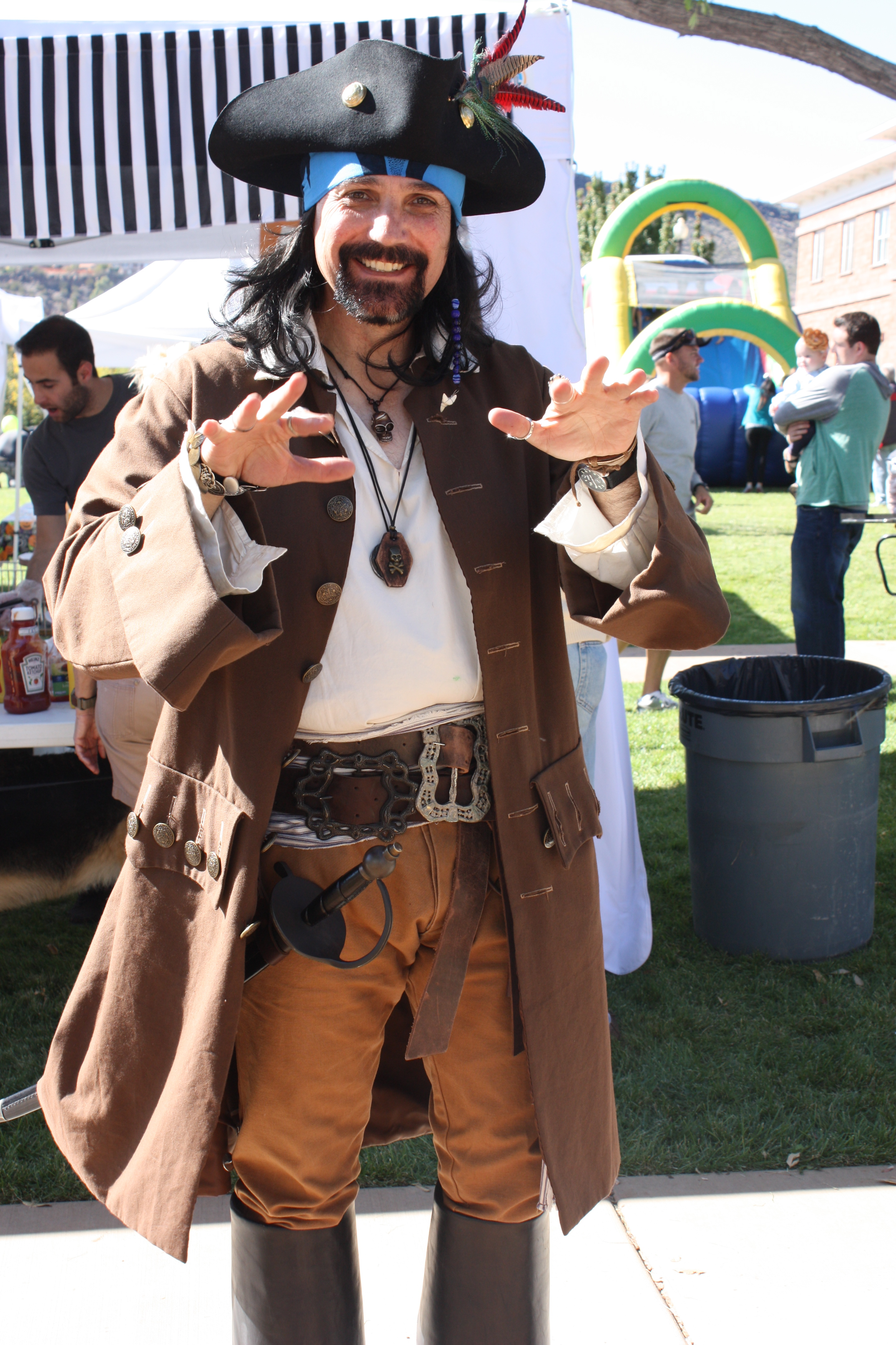 A pirate at the Spooky Town Fair, location and date unspecified | Photo courtesy of spookytownfair.com, St. George News