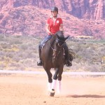 Stacy Williams puts her mount through the paces in preparation for the U.S. Dressage Federation Regional Championships, St. George, Utah, Sept. 30, 2015 | Photo by Devan Chavez, St. George News