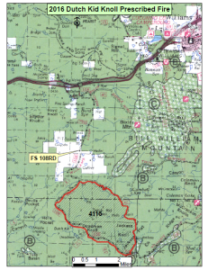 Map of Kendrick prescribed burns planned for October 2015 | Image courtesy of Kaibab National Forest, St. George News