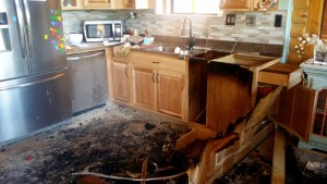 A fire in Central Monday morning caused extensive damage to a home, Central, Utah, Oct. 5, 2015 | Photo courtesy of Steve Haluska, St. George News
