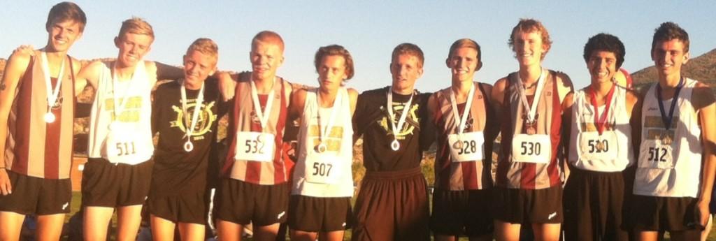 Boys top 10 finishers, Region 9 cross meet, Cedar City, Utah, Oct. 13, 2015 | Photo by Jordan Abel, St. George News
