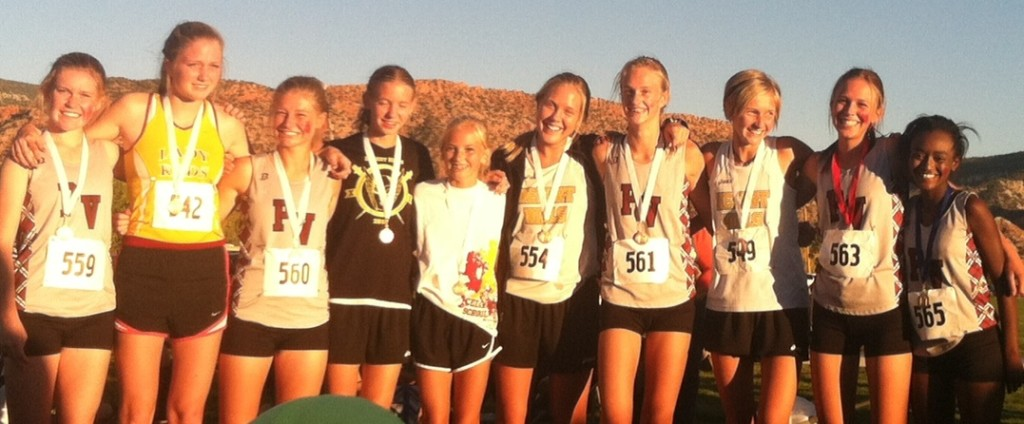 Girls top 10 finishers, Region 9 cross meet, Cedar City, Utah, Oct. 13, 2015 | Photo by Jordan Abel, St. George News