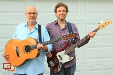 Doug Haywood and Aaron Haywood pose together with their guitars, location and date not specified | Photo by Maria Madsen, St. George News