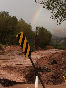 Flooding in Hildale, Utah, and Colorado City, Arizona, Oct. 17, 2015 | Photo by Cami Cox Jim, St. George News