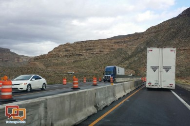 Interstate 15 through the Virgin River Gorge, Mohave County, Arizona, March 26, 2014   Photo by Joyce Kuzmanic, St. George News