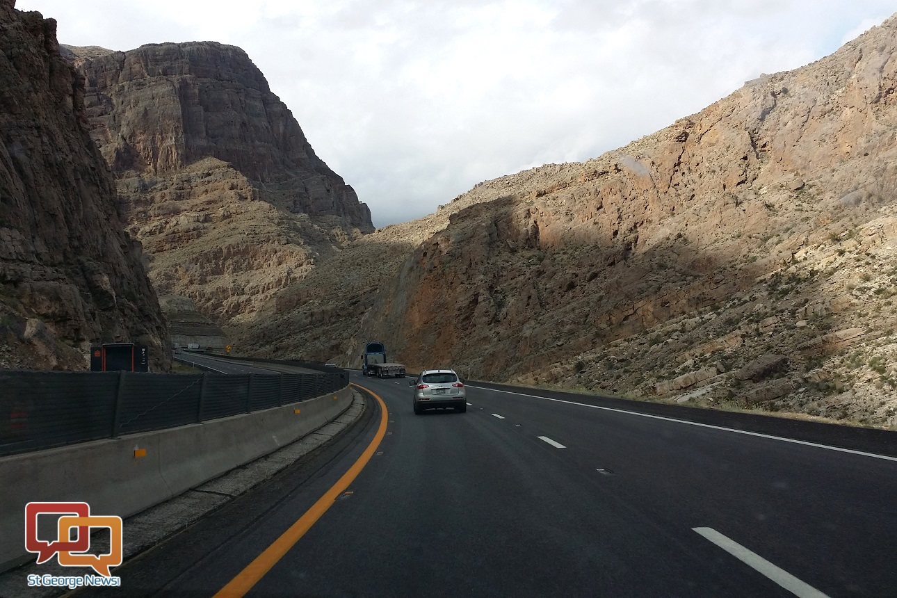 Interstate 15 through the Virgin River Gorge, Mohave County, Arizona, March 26, 2014 | Photo by Joyce Kuzmanic, St. George News