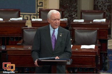 Sen. Orrin Hatch delivers a speech about religious liberty on the Senate Floor, Washington, D.C., October 2015 | Image courtesy of Office of Orrin Hatch, St. George News