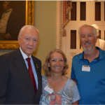 Carol Hollowell and her husband Bob Hollowell meet with Sen. Orrin Hatch at the conclusion of their bike ride to raise awareness for homelessness, Sept. 30, 2015, Washington, D.C. | Photo courtesy of the offices of Sen. Orrin Hatch, St. George News