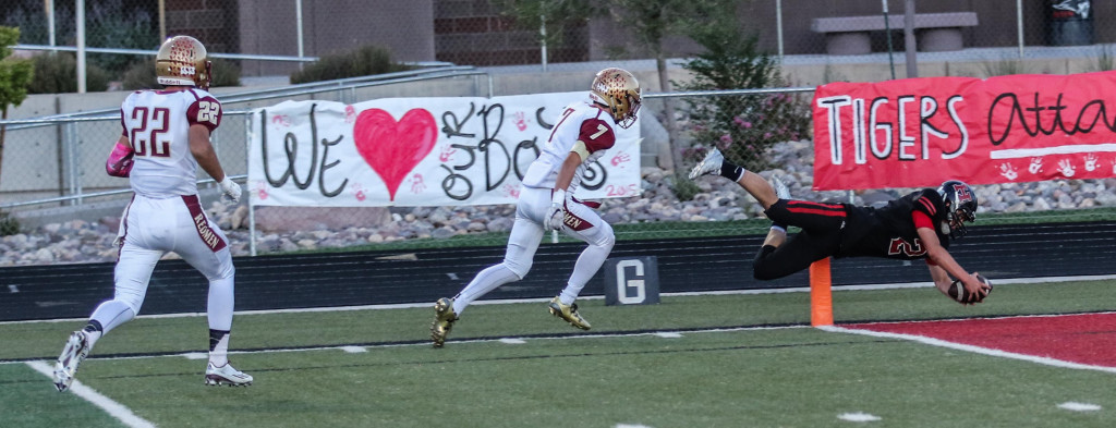 Hurricane's Kyle Williams (2) in for 6, Hurricane vs. Cedar, St. Hurricane, Utah, Oct. 2, 2015, | Photo by Kevin Luthy, St. George News