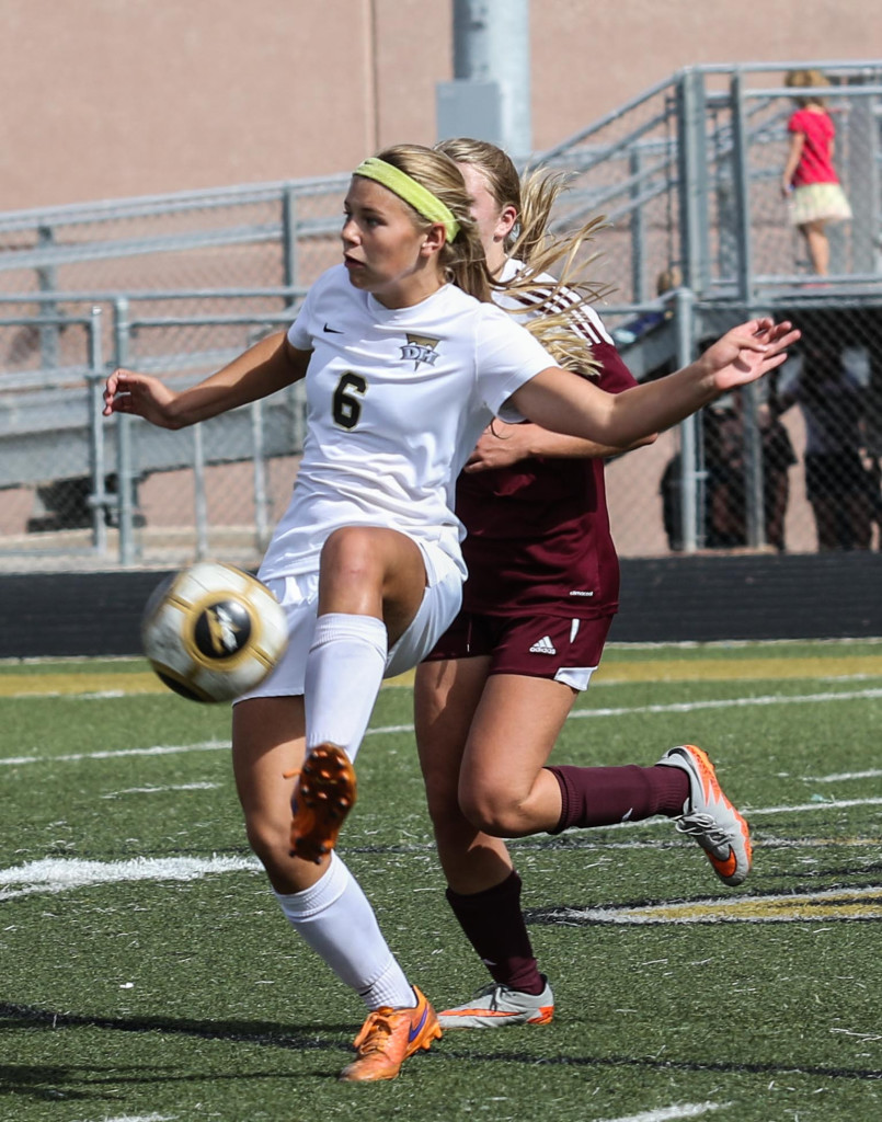 Drew Morby (6) is back for Desert Hills, file photo from Desert Hills vs Morgan, Girls Soccer,St George, Utah, Oct. 17, 2015, | Photo by Kevin Luthy, St. George News.