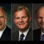Elders Ronald A. Rasband, Gary E. Stevenson and Dale G. Renlund were each called to LDS Church's Quorum of Twelve Apostles following the deaths of three members of the Quorum earlier this year, Salt Lake City, Utah, Oct. 3, 2015   Photo courtesy of The  Church of Jesus Christ of Latter-day Saints, St. George News