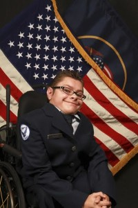 Cadet Dayne Nourse has a bone disease and has always wanted to serve in the military, so he joined the AFJROTC, location and date unspecified | Photo by Back When Photography, St. George News