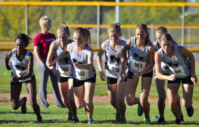Pine View girls cross country, second at state. | Photo courtesy Dave Holt