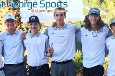 Pine View's winning team at the Region 9 golf championships at Southgate Golf Course. | Photo courtesy Darrell Larsen