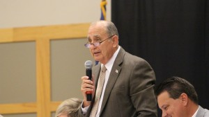 Candidate Ed Baca, St. George Area Chamber of Commerce City Council candidate forum, St. George, Utah, Oct. 21, 2015 | Photo by Mori Kessler, St. George News