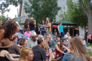 Jazz garden at George First Friday Streetfest, St. George, Utah, June 5, 2015 | Photo by Hollie Reina, St. George News