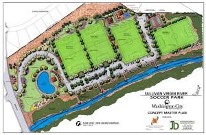 Master plan for the Sullivan Virgin River Soccer Park, Washington City, Utah, Oct. 30, 2015 | Image courtesy of Washington City, St. George News