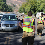 An accident on 200 North Friday morning damaged two vehicles, St. George, Utah, Oct. 9, 2015 | Photo by Ric Wayman, St. George News