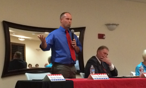 Washington City Council candidate Troy Belliston at a public forum sponsored by the Washington City Chamber of Commerce, Washington City, Utah, Oct. 20, 2015 | Photo by Mori Kessler, St. George News