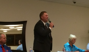 Washington City Council candidate Jeff Turek at a public forum sponsored by the Washington City Chamber of Commerce, Washington City, Utah, Oct. 20, 2015 | Photo by Mori Kessler, St. George News
