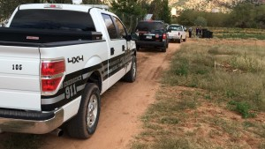 Responders from the Hildale-Colorado City Marshal's Office and the Mohave County Sheriff's Office respond to the FMJ Zoo property, Colorado City, Arizona, Oct. 17, 2015 | Photo by Cami Cox Jim, St. George News