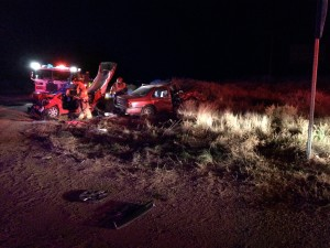 Head-on collision on state Route 389, Mohave County, Arizona, Nov. 16, 2015 | Photo by Cami Cox Jim, St. George News
