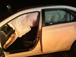 A four-vehicle collision on Interstate 15 near Arizona milepost 11.5 resulted in at least three people transported to the hospital, Mohave County, Arizona, Nov. 29, 2015   Photo courtesy of Arizona Department of Public Safety, St. George News