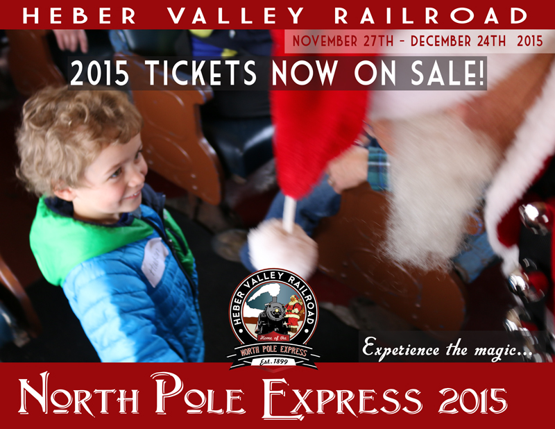 Heber Valley Railroad, North Pole Express 2015 | Flyer from website, St. George News