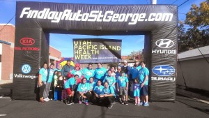 Participants pose after completing the Aloha 5k, St. George, Utah, Nov. 15, 2014   Photo courtesy of the Southern Utah Pacific Islander Coalition, St. George News