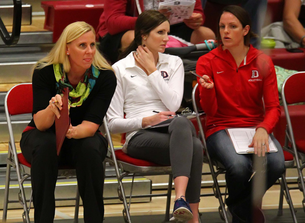 Dixie State head coach Robyn Felder (left) leads the REd Storm back to the NCAA Tournament. File photo from Dixie State University vs. Westminster College, St. George, Utah, Nov. 18th, 2015,   Photo by Robert Hoppie, ASPpix.com, St. George News