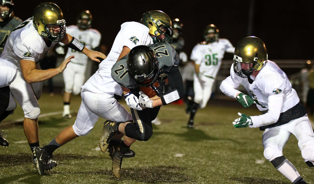 The Snow Canyon defense has been tough with Mike Esplin as defensive coordinator, file photo from Desert Hills vs. Snow Canyon, Football, St. George, Utah, Nov. 6th, 2015, | Photo by Robert Hoppie, ASPpix.com, St. George News