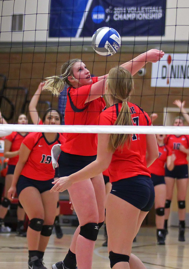 Kailey Frei, Dixie State University vs. Point Loma University, Volleyball, St. George, Utah, Nov. 7th, 2015, | Photo by Robert Hoppie, ASPpix.com, St. George News