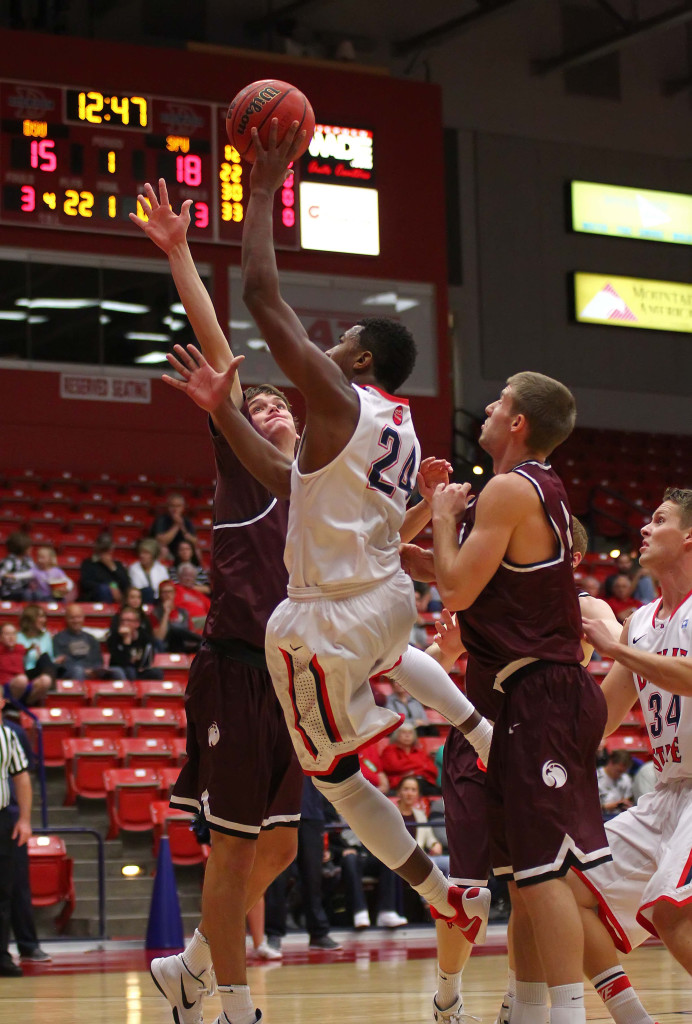Dixie State's Trevor Hill (24), file photo from Dixie State University vs. Seattle Pacific University, Basketball, Utah, Nov. 14th, 2015, | Photo by Robert Hoppie, ASPpix.com, St. George News