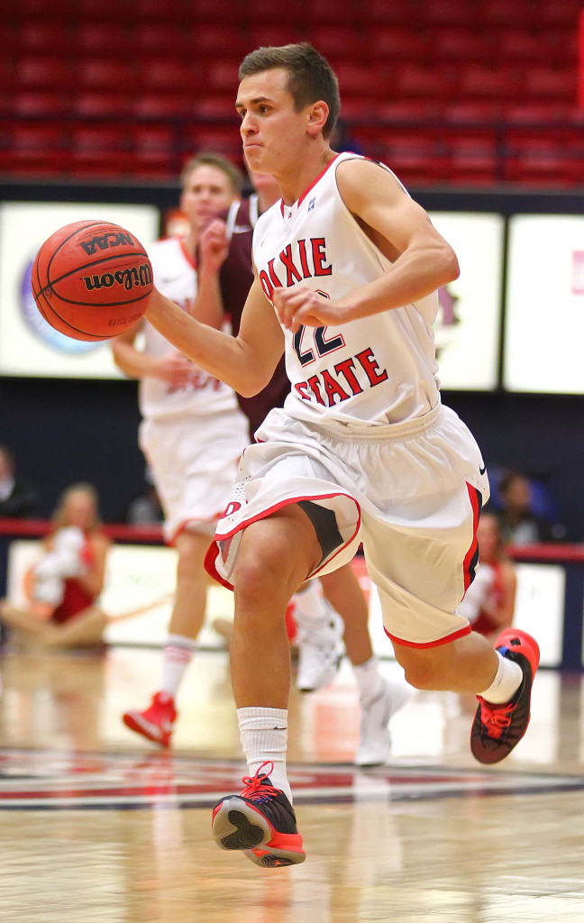 Dixie State's Brandon Simister (22), file photo from Dixie State University vs. Seattle Pacific University, Basketball, Utah, Nov. 14th, 2015,   Photo by Robert Hoppie, ASPpix.com, St. George News