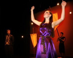 "Kimball Wastland plays the leading role in the Desert Hills High School production of ""Aida,"" a story about an Egyptian love triangle and enduring love, St. George, Utah, November 2015 