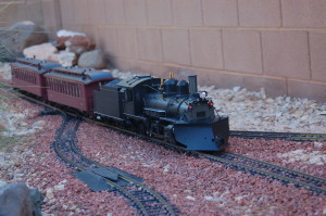 A G scale garden railroad setup graces the yard of Tom Meyers, St. George, Utah, Nov. 13, 2015 | Photo by Hollie Reina, St. George News