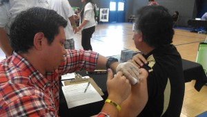 A flu shot being administered during the health fair, St. George, Utah, Nov. 15, 2014   Photo courtesy of the Southern Utah Pacific Islander Coalition, St. George News