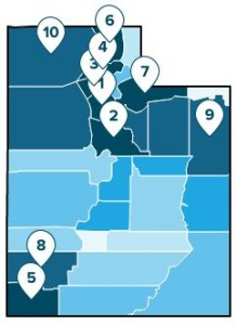 A study shows how Washington County places among other Utah counties for GDP growth