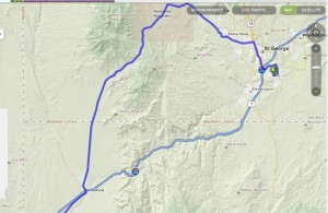 Highway 91 between St. George, Utah, and Littlefield, Arizona | Image from Mapquest.com, St. George News