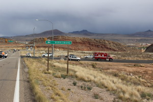 Three-car accident delays traffic and causes extensive damage in Hurricane, Utah, Nov. 10, 2015 | Photo by Cody Blowers, St. George